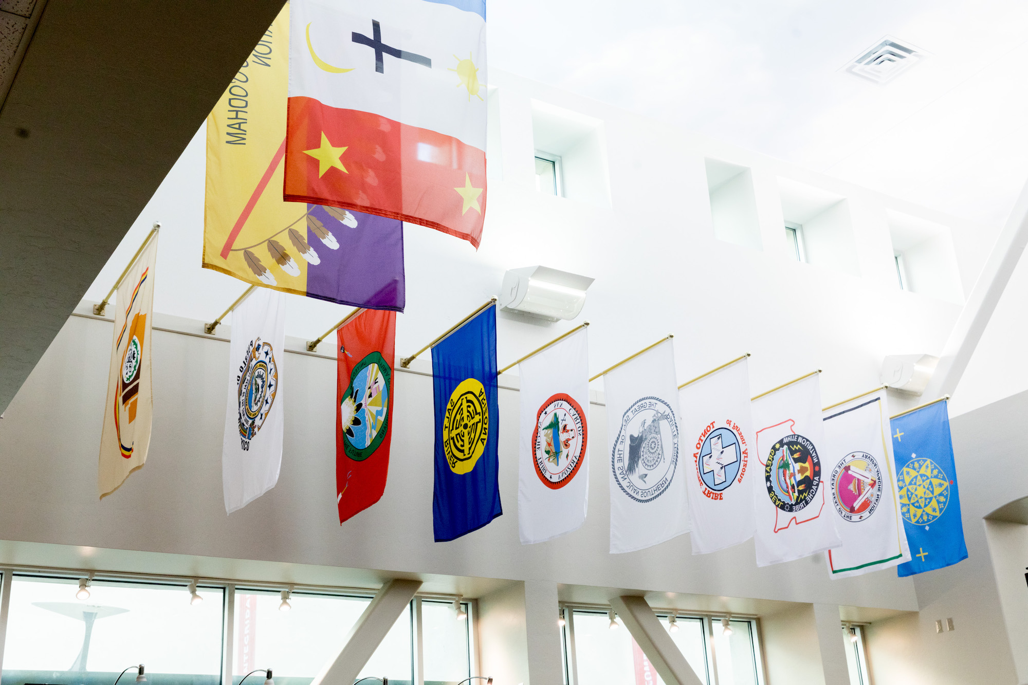 Flags in the bookstore