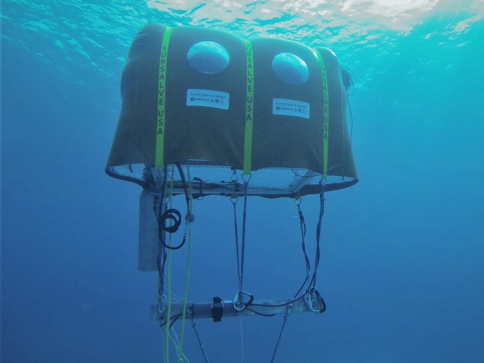 underwater tent