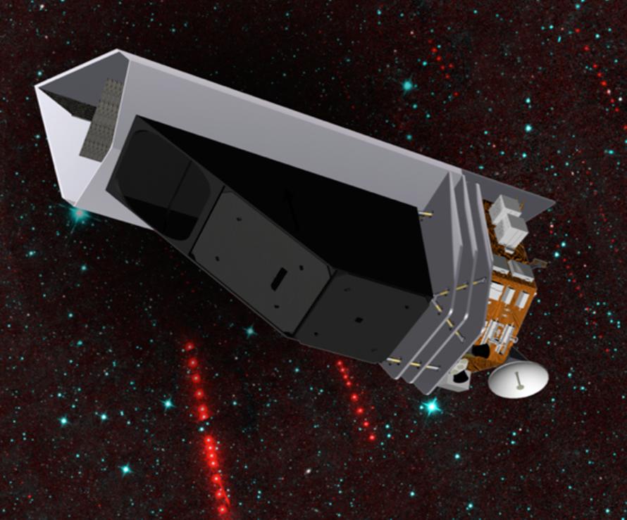 Artist impression of NEO Surveyor space telescope