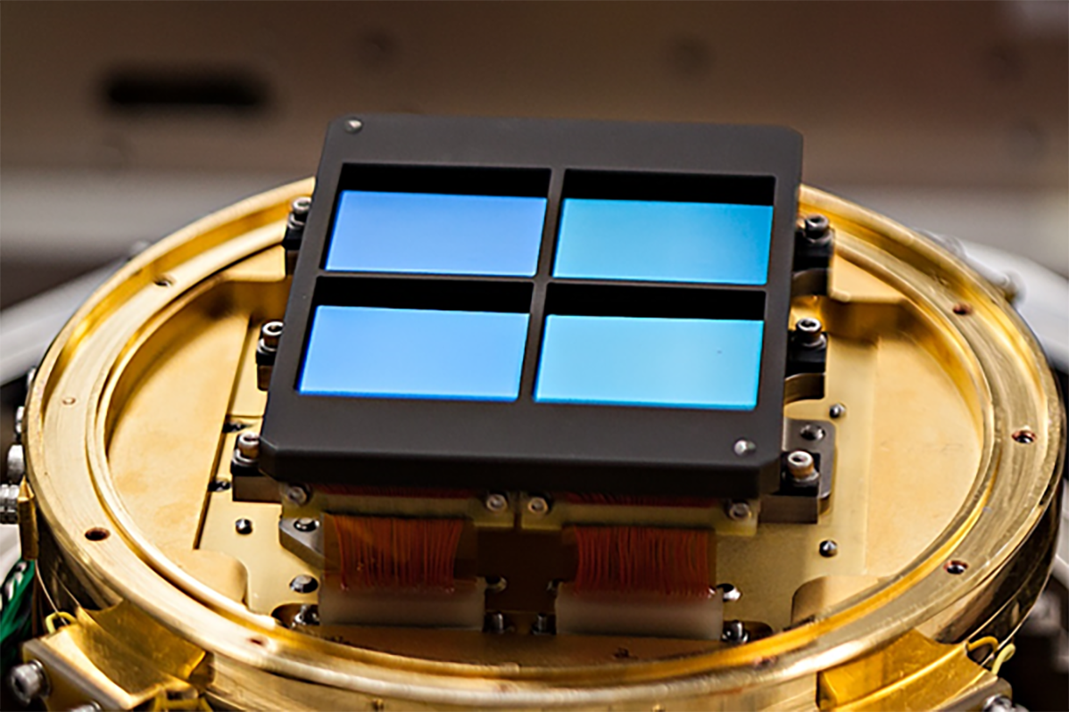 A sensor array for the NIRCam instrument, designed and tested by Marcia Rieke's research group at Steward Observatory.