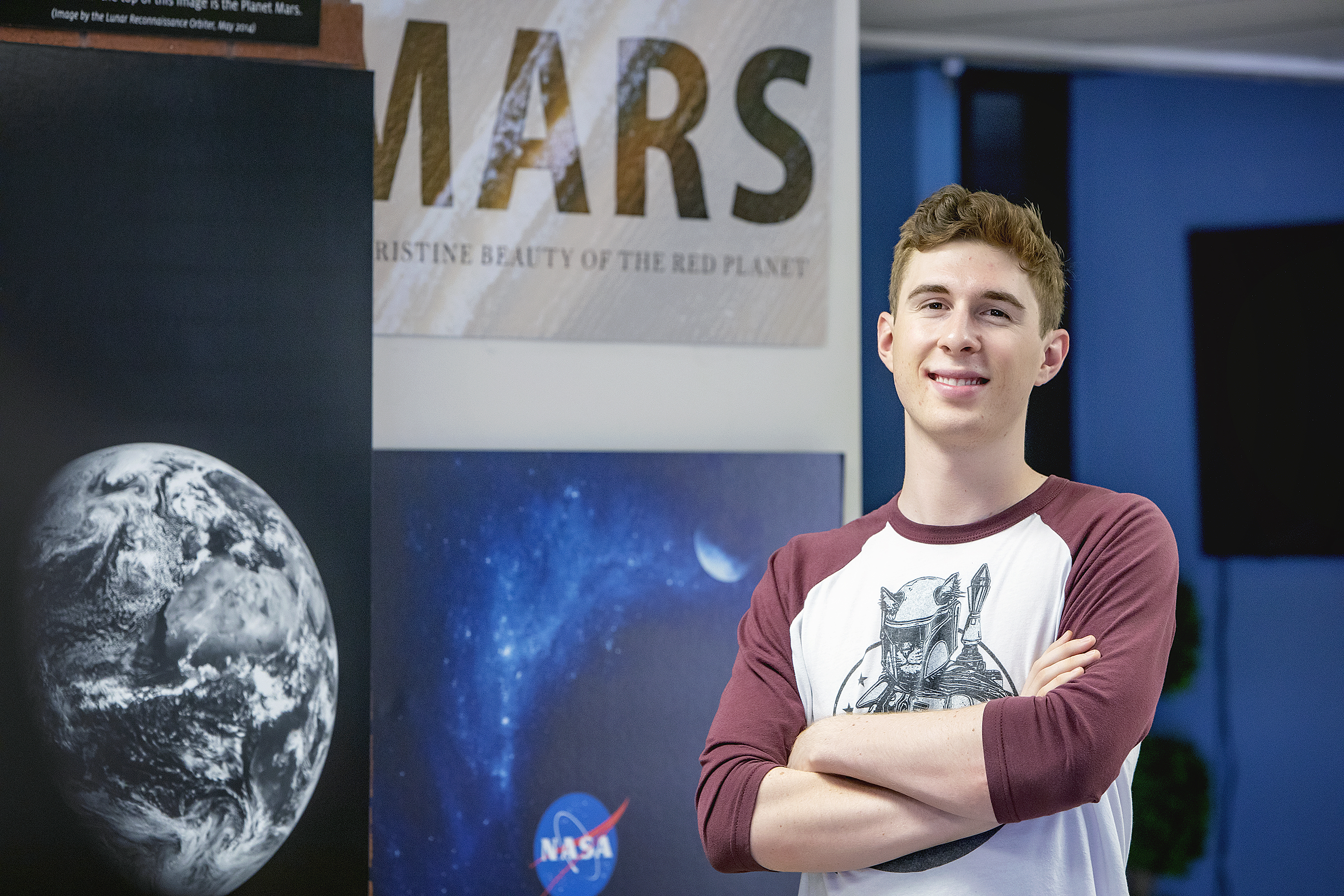 UA undergraduate student Gordon Downs is helping develop new ways to analyze data from the NASA Curiosity mars rover as a collaborator on the Mars Science Laboratory science team.