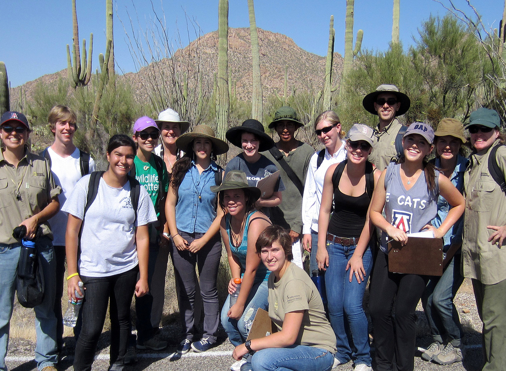 Margaret Wilch takes her science students from Tucson High Magnet School into the field to experience science in the real world.