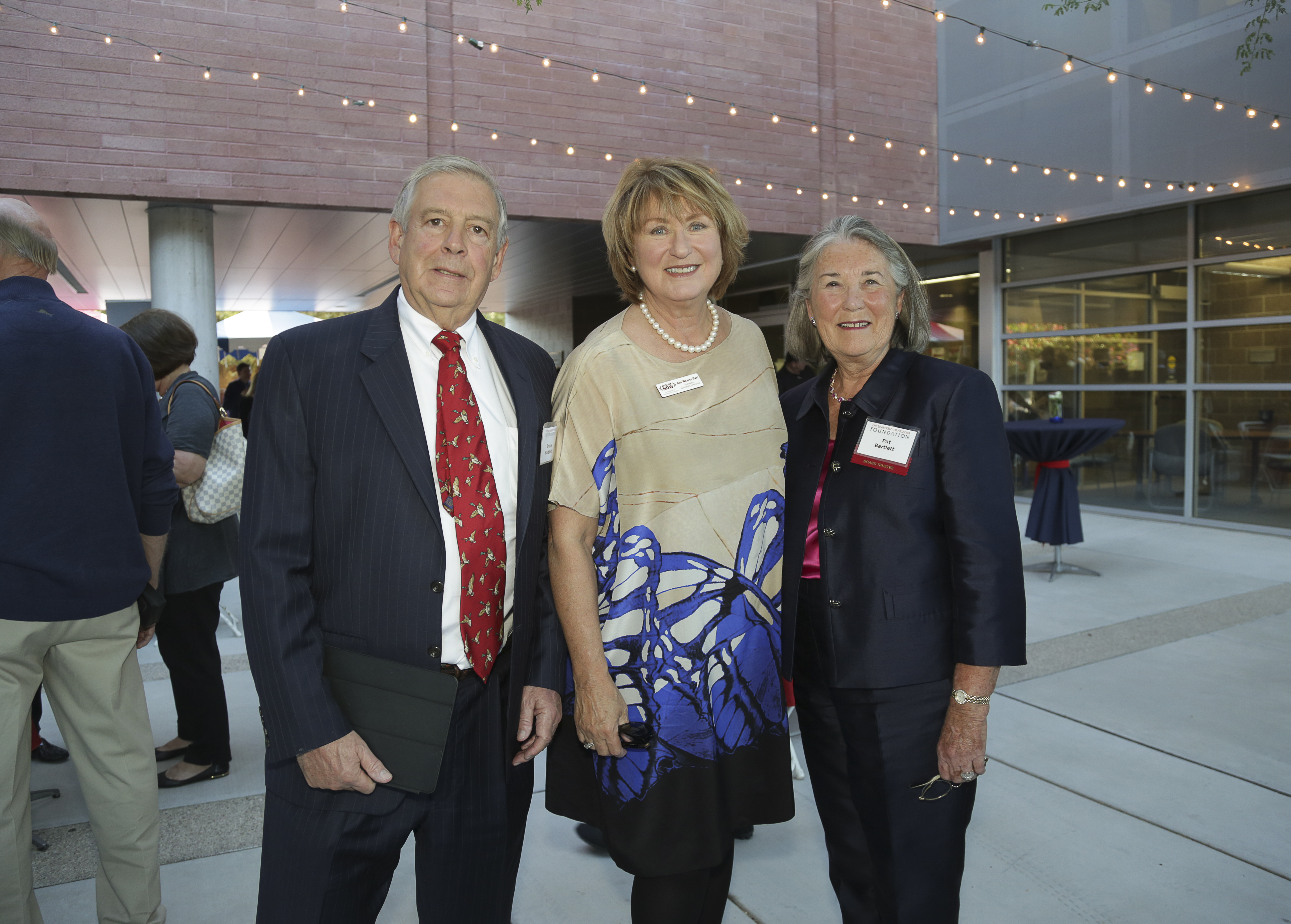 UA President Ann Weaver Hart  with Bruce and Patricia Bartlett