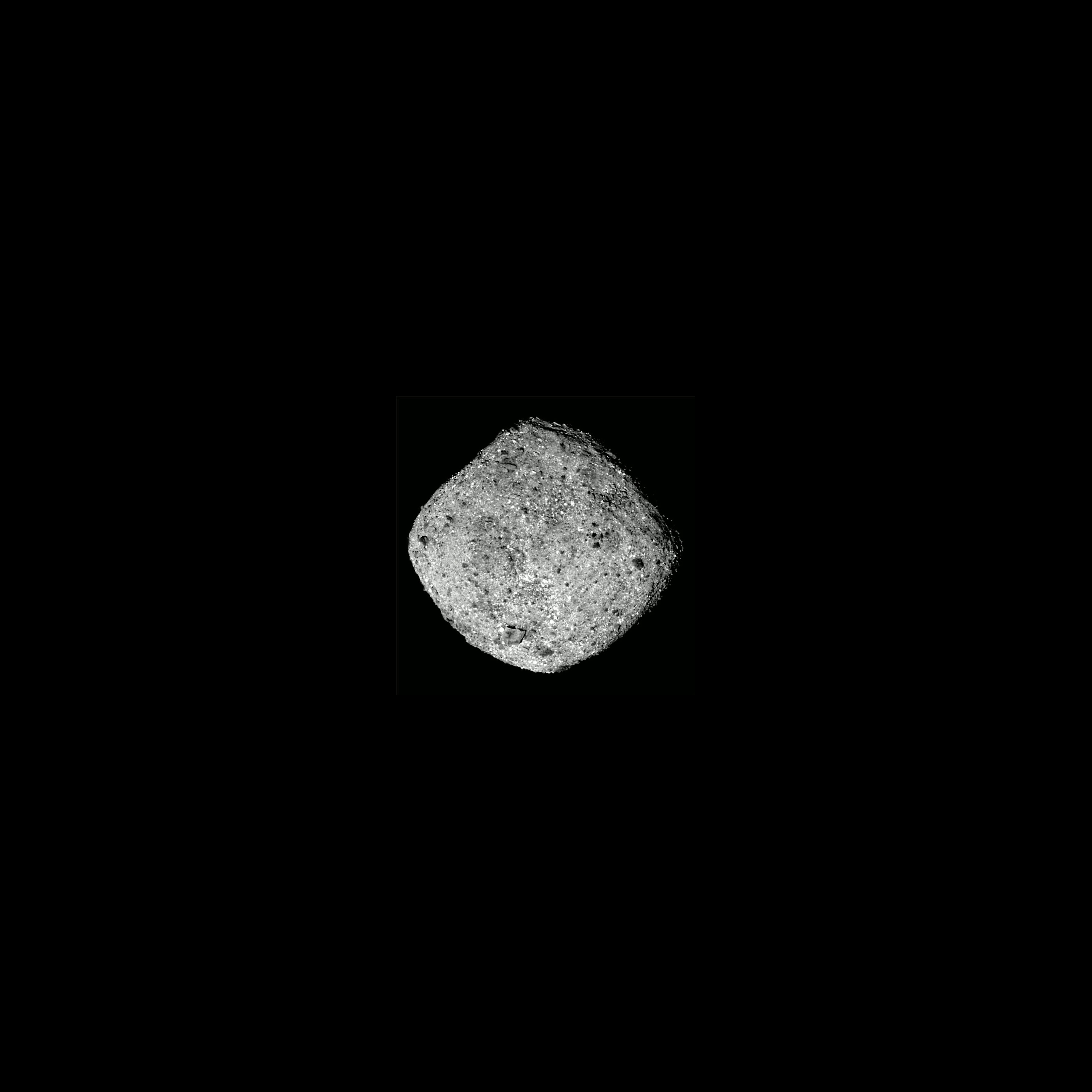 This image of Bennu was taken by the OSIRIS-REx spacecraft from a distance of around 50 miles .