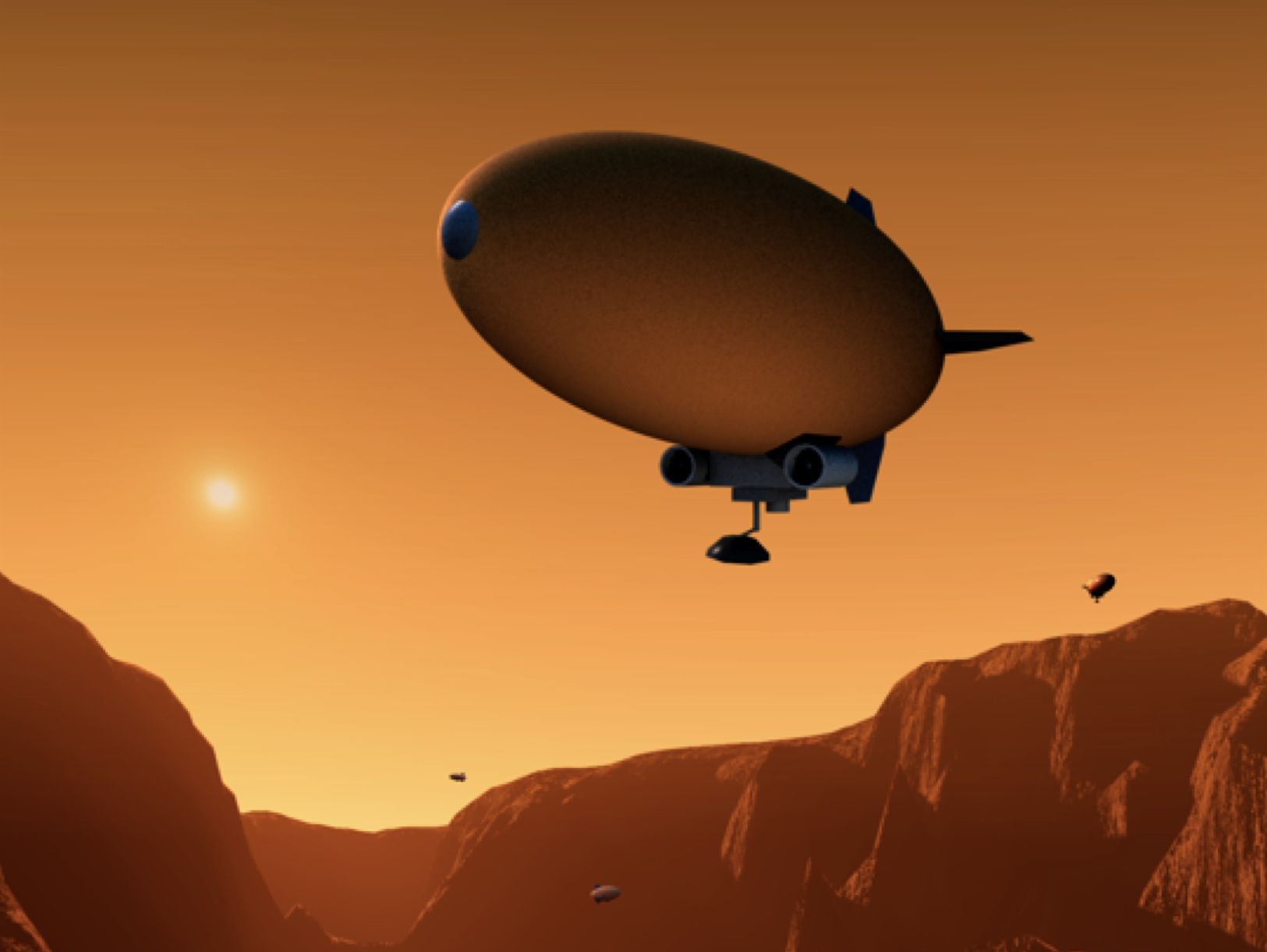 Blimps could one day play an important role in selecting interesting objects for closer examination by rovers on the ground or on the surface of lakes on alien planets.