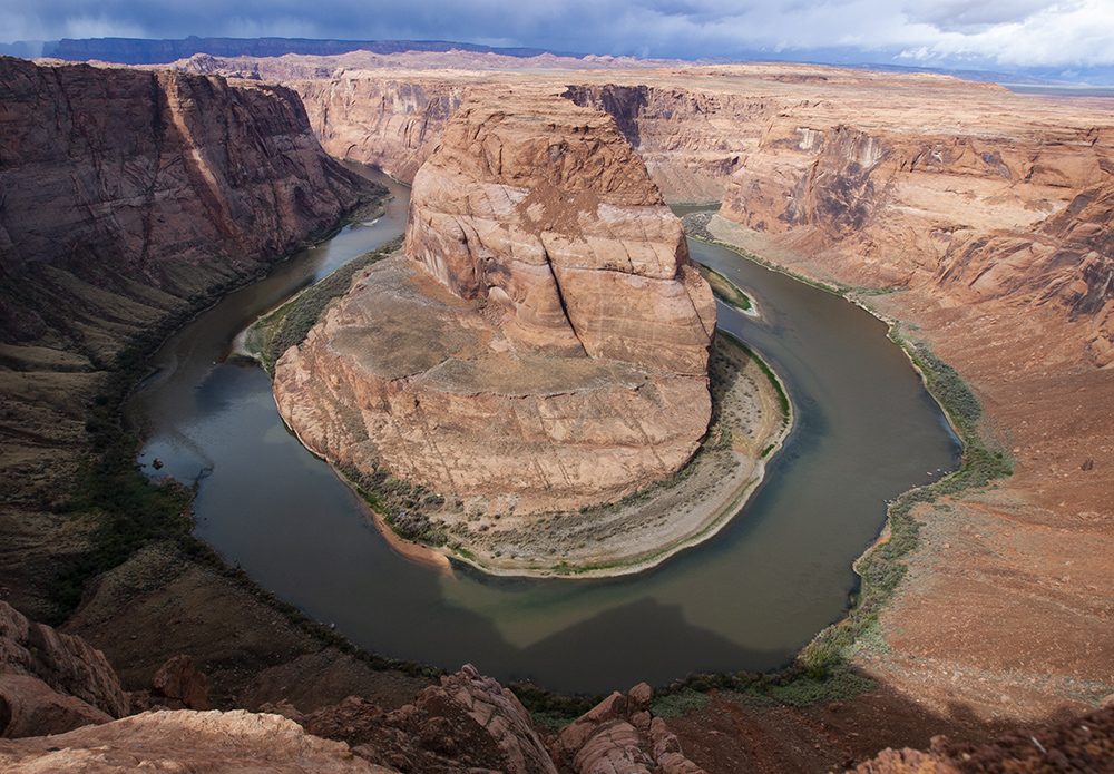 Depletion of groundwater will be more disruptive to vegetation, streams and rivers in the eastern U.S. than in the arid Southwest, where deep groundwater already is largely disconnected from surface waters, illustrated here by the Colorado River meanderin
