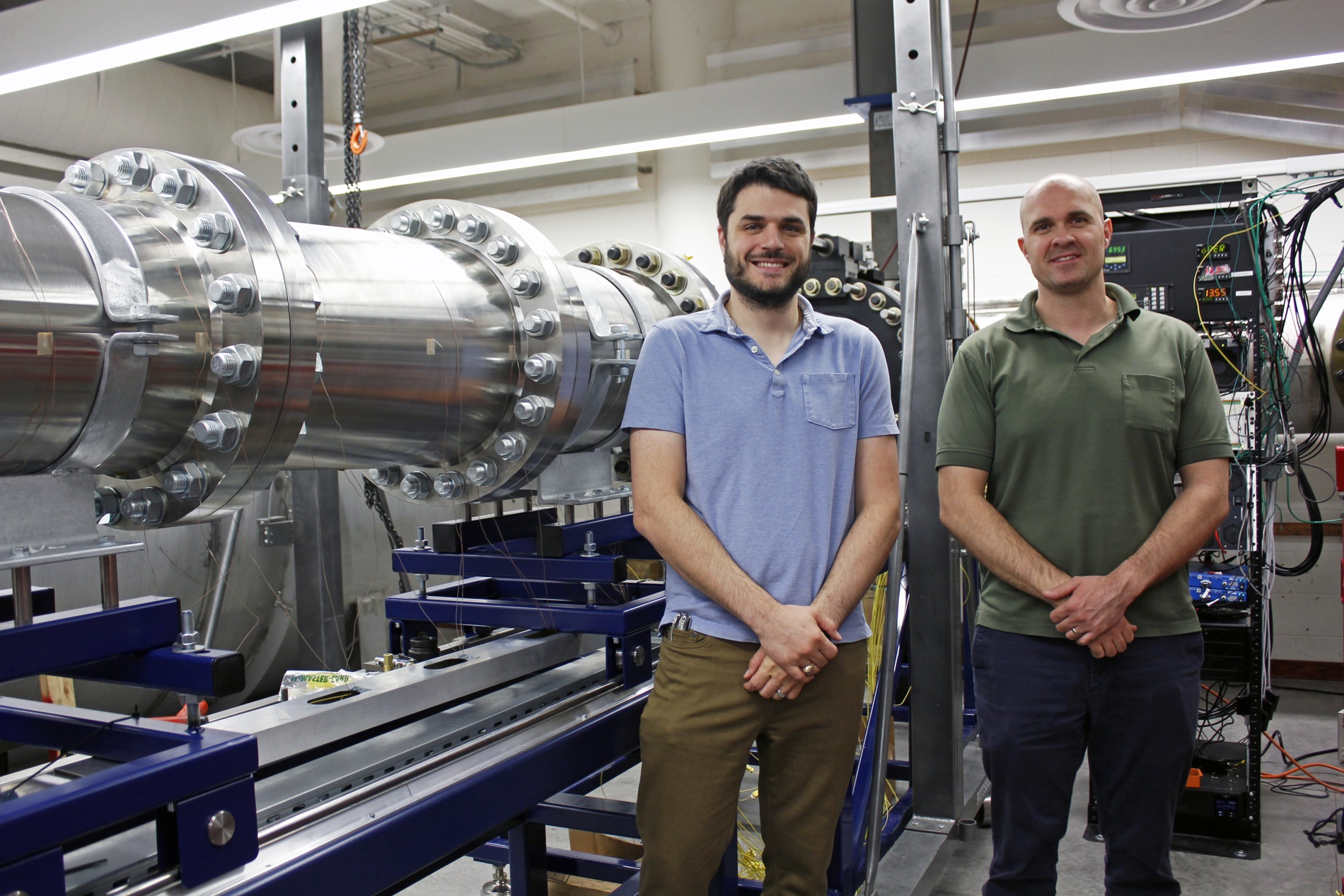"A grant from the Army Research Office will fund an extension of the Arizona Supersonic Wind Tunnel, making it capable of conducting experiments in transonic conditions. Stuart ""Alex"" Craig  and Jesse Little received the funding through the U.S. Department"