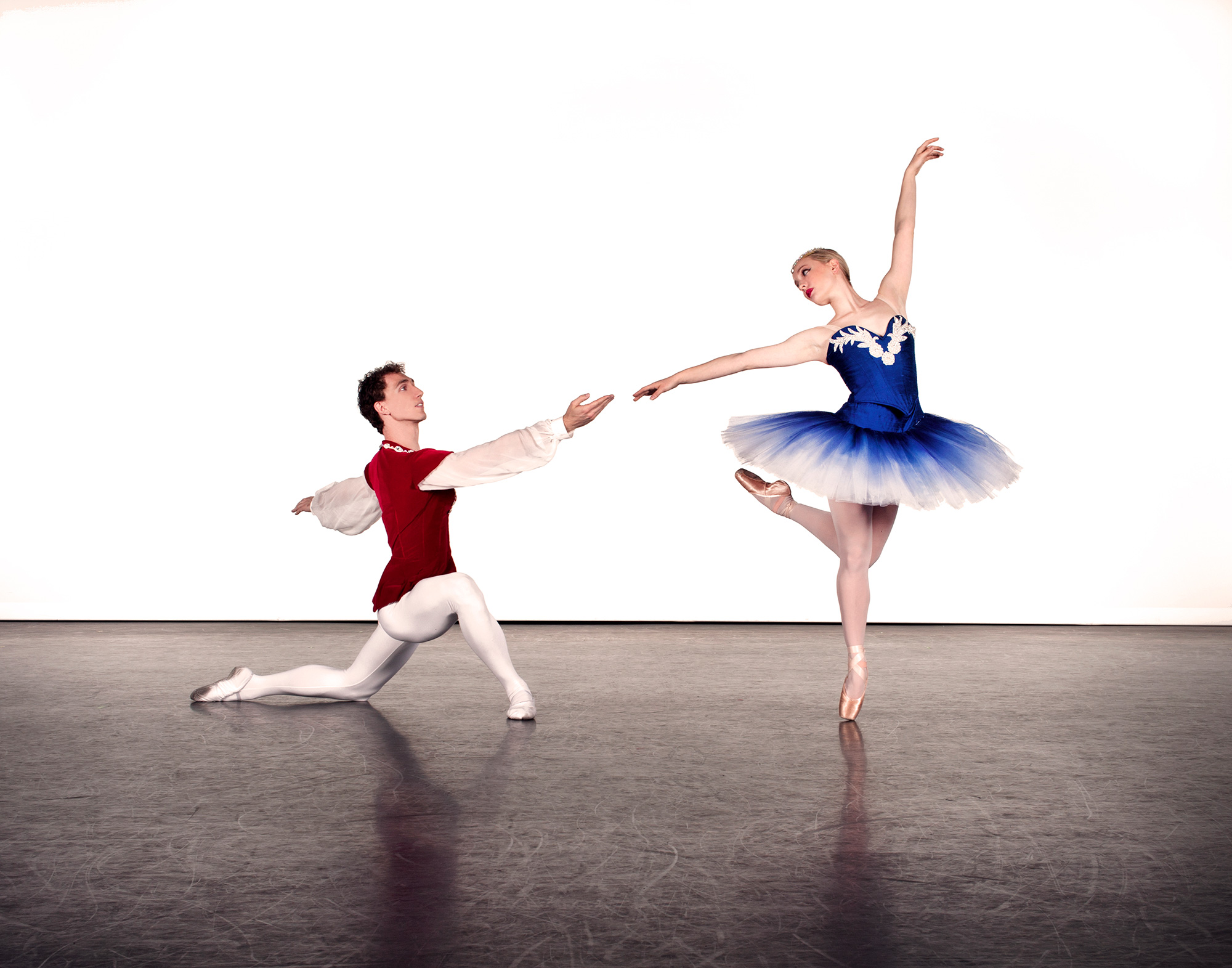 UA Dance Ensemble members Maxwell Foster and Lydia Marbach.