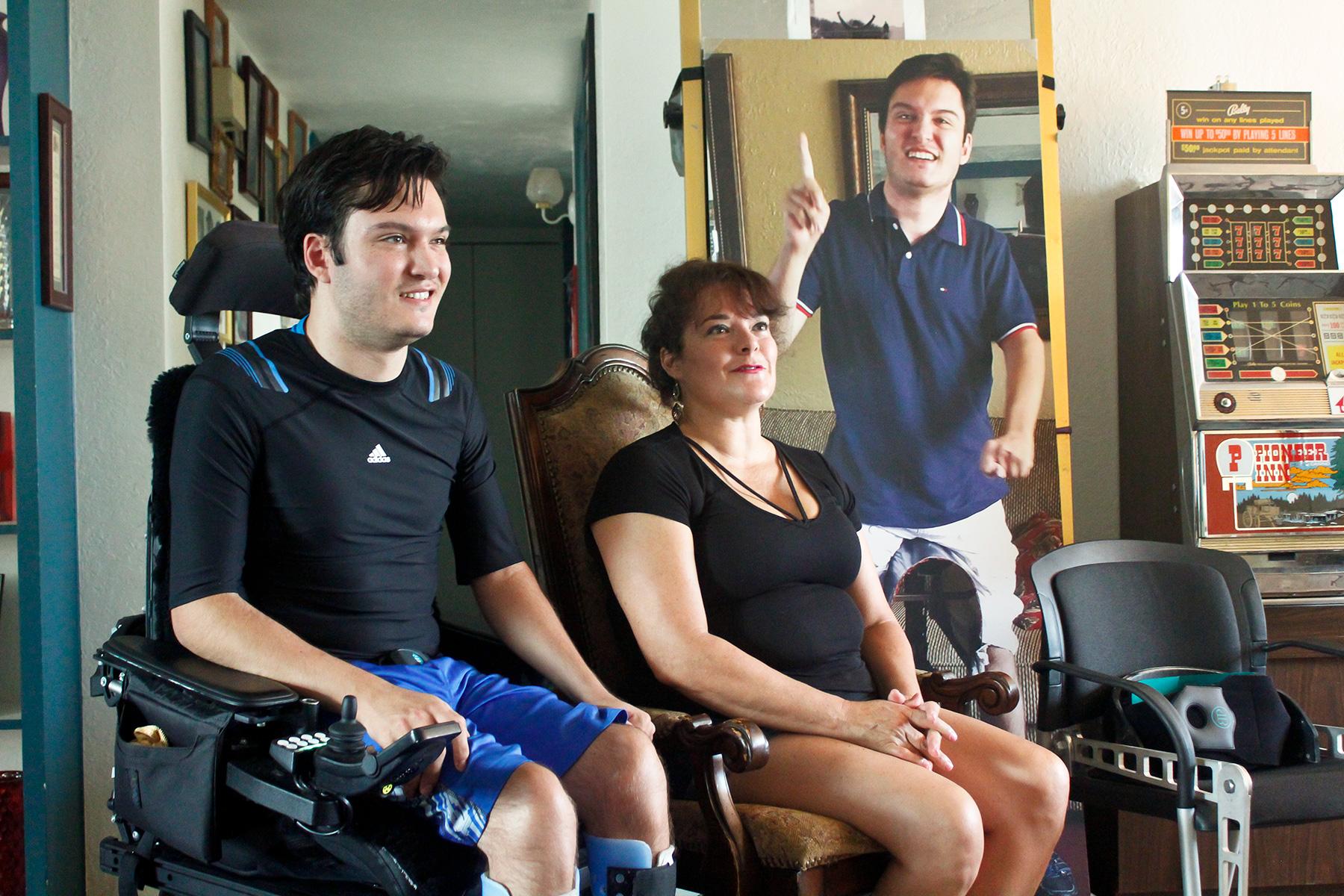 Jeffrey Bristol  and his mother, Hermelinda Bristol, at their home in Tucson, Arizona