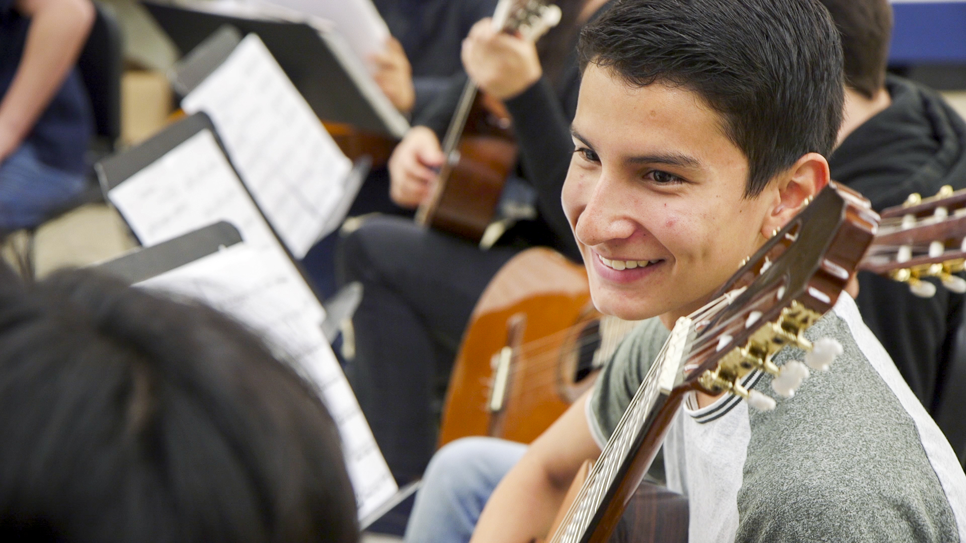 Pablo Esteban Quiñonez Paz learned to play guitar through Lead Guitar, part of the UA CFA in Schools outreach program. He plans to pursue a degree in music at the UA.