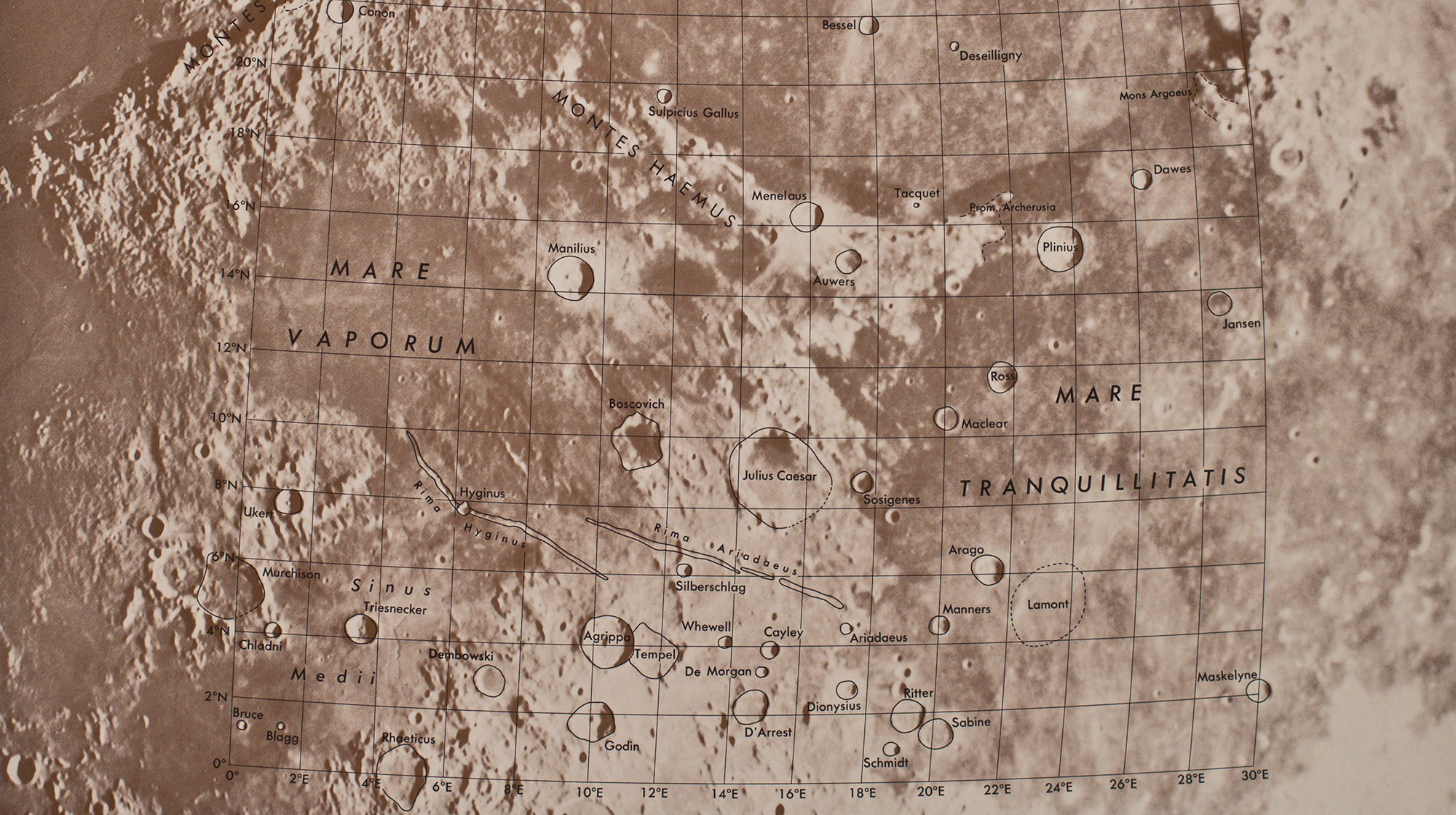 A page from the Rectified Lunar Atlas.