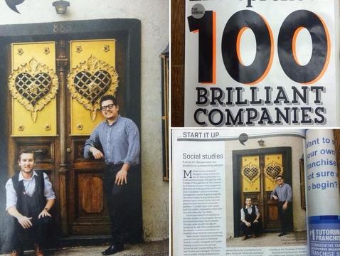 UA alumnus and current student in Entrepreneur magazine.