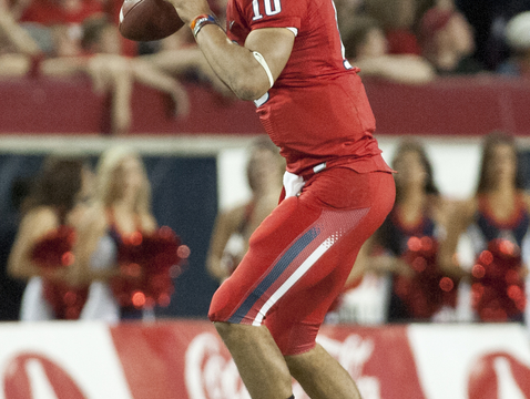 UA quarterback Matt Scott. (Photo courtesy of Arizona Athletics)