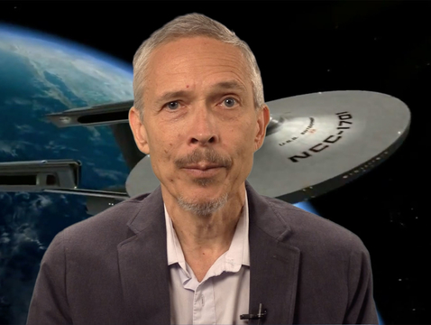 Christopher Impey, University Distinguished Professor of astronomy, delivers a video lecture as part of his massive online open course.