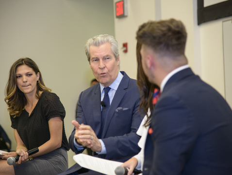 UA alumnus Terry J. Lundgren is known for his generosity of time and expertise with students. (Photo courtesy of the Norton School of Family and Consumer Sciences)