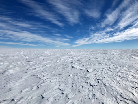 Antarctica is covered with sastrugi – concrete-hard snow drifts – for thousands of miles in every direction. (Photo: Kelly Brunt, courtesy National Science Foundation)