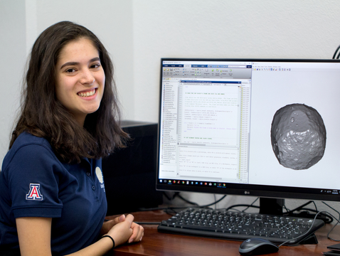 UA undergraduate Adriana Mitchell will travel to Japan this summer to work on Hayabusa2, an asteroid sample return mission that is a sister project to the UA-led OSIRIS-REx mission.