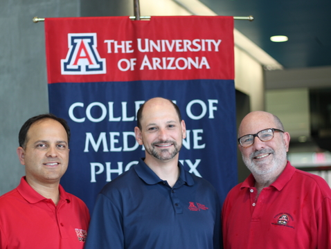 The UA's concussion app team (from left): Ricardo Valerdi, Jonathan Lifshitz and Dr. Hirsch Handmaker