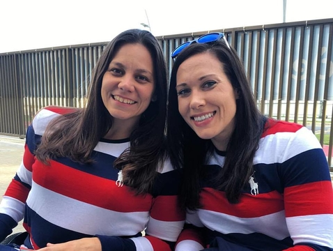 Basketball players Darlene Hunter and Jennifer Poist in Rio. The 2016 Paralympic Games in Rio is the second-largest presence of current and former UA Adaptive Athletes in the program's history.