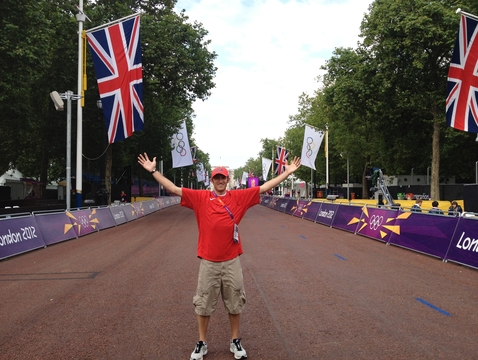 The UA's Dustin Williams at the Olympic Games in London in 2012 (Photo courtesy of Dustin Williams)