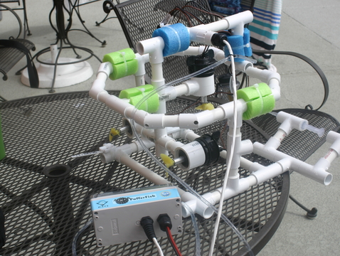 Teachers built their own remotely operated vehicles, or ROVs, for use underwater in a swimming pool, simulating work done in the Central Arizona Project canal system.