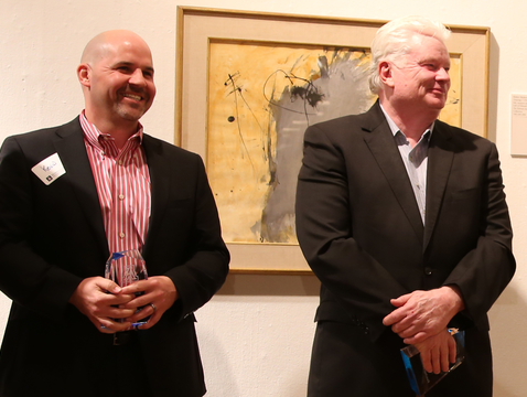 Kevin Boesen (left) and Fletcher McCusker at TLA's first awards event in 2014 (Photo: Paul Tumarkin/Tech Launch Arizona)
