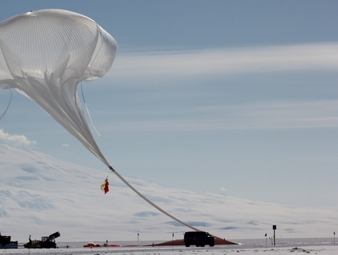 Christopher Walker's team successfully launched the Stratospheric Terahertz Observatory (STO) from McMurdo in Antarctica on Dec 8, 2016. (Photo: Brian Duffy and Christopher Walker)