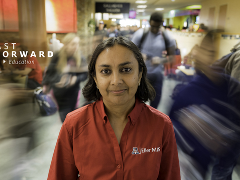 Sudha Ram, a professor of management information systems, directs the UA's INSITE, a center that focuses on harnessing the power of big data to help businesses and organizations make better-informed decisions. (Photo: Bob Demers/UANews)