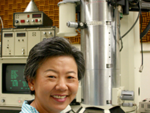Professor Supapan Seraphin in the Materials Science and Engineering Electron Microscope Lab. Credit: Matt Brailey