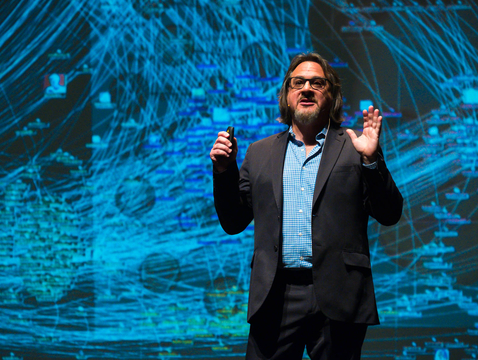 "Vincent J. Del Casino Jr., the UA's vice president of Academic Initiatives and Student Success, closed the six-week College of Science lecture series with his talk, ""There Is No Such Thing as Big Data."" (Photo: Bob Demers/UANews)"