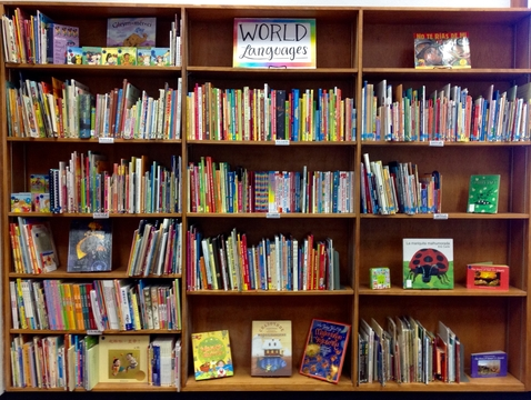 The World Language collection at Worlds of Words is located inside the classroom workshop at the UA College of Education. The collection is for research and public use.