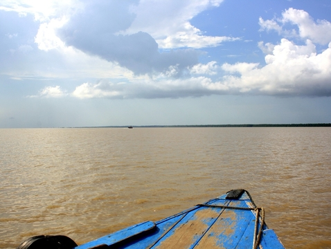 The Amazon River and its watershed — the largest river system on Earth — cover 2.4 million square miles.