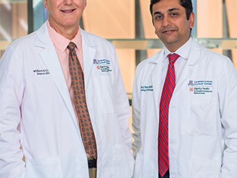 William Cance, M.D., and Mital Patel, M.D. (Photo: Sun Czar Belous, UA College of Medicine – Phoenix.)