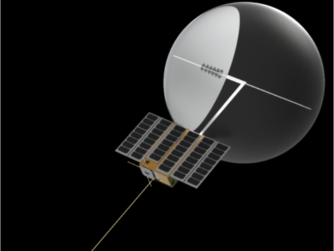 A rendering of CatSat, a nanosatellite being built by UA students. (Image: Vishnu Reddy)