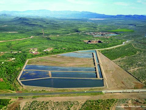Agua Fria recharge basins in Phoenix