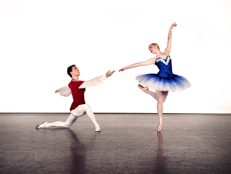 UA Dance Ensemble members Maxwell Foster and Lydia Marbach. (Photo: Ed Flores)