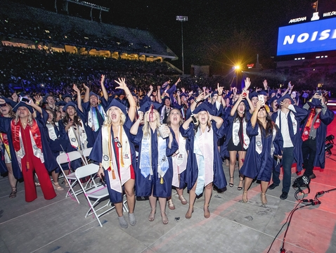About 4,500 graduates are expected to join in the celebration at Arizona Stadium on Friday. (Photo: John de Dios/UANews)