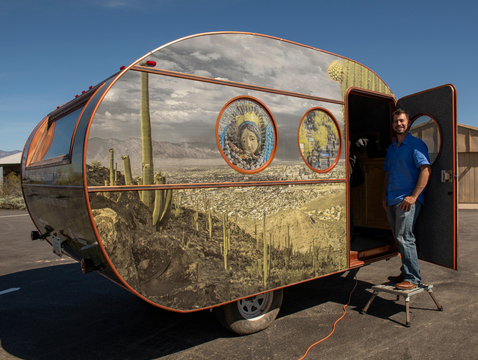 The Cuéntame Más: Tales From Tumamoc mobile recording studio is open to the public on select days through April 7. (Photo: Bill Hatcher)