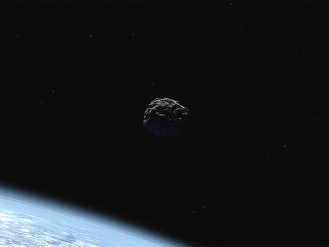 Artist's concept of a near-Earth object. (Credit: NASA/JPL-Caltech)