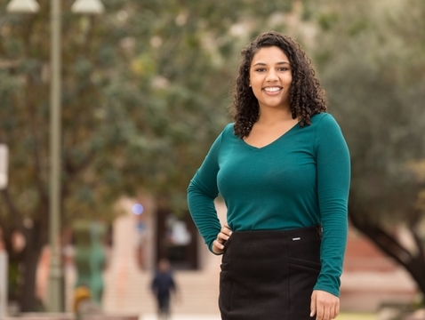 Leah Crowder, who earned her bachelors degree in Middle Eastern and North African studies at the UA, will study international relations at Oxford as a Rhodes scholar. (Photo: Chris Richards/UA Alumni Association)