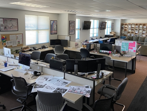 Desks, computers and common areas in the Daily Wildcat newsroom have gone largely untouched since early March. Staff for the university's student-run newspaper have covered COVID-19 and other stories from home since the pandemic began. (Photo courtesy of Brett Fera)