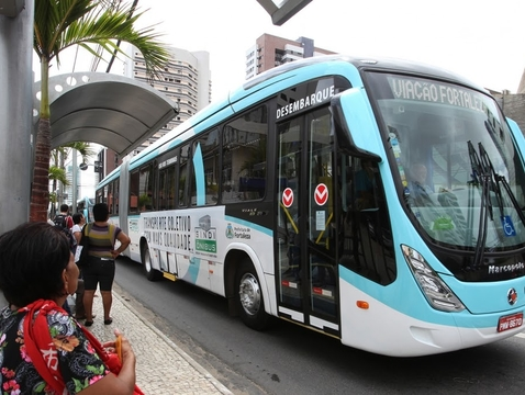 About 90 percent of Fortaleza's population uses public transportation. (Photo courtesy of Ezequiel Dantas)