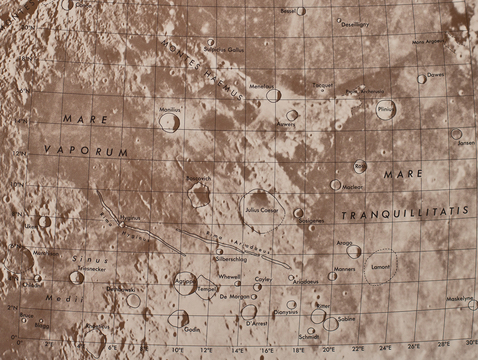 A page from the Rectified Lunar Atlas. (Courtesy of Lunar and Planetary Laboratory)