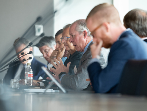 UA President Robert C. Robbins was among the attendees at a University Climate Change Coalition summit, where he was part of a panel of university presidents.