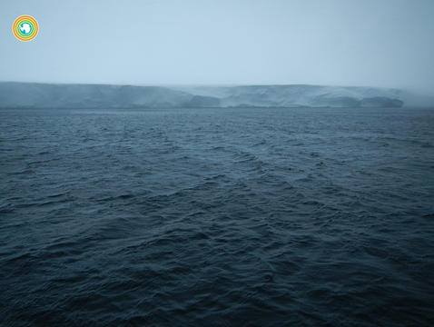 Ice sheets on the Southern Ocean. (Photo: Hannah Zanowski)