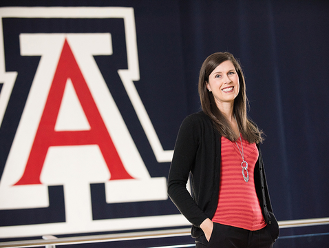 """The UA's Amy Athey: """"These students are talented, but they've also worked hard. Our job is helping them get there more consistently."""" (Photo: Jacob Chinn/UA Alumni Association)"""