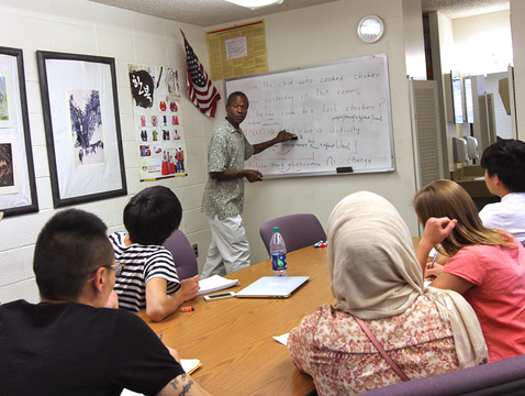Teles Machibya leads a Swahili class session in the Critical Languages Program. To meet rising student demand for language instruction, the UA's College of Humanities is introducing new minors in Korean and critical languages.