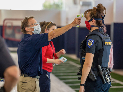Antibody testing offered by the University of Arizona in partnership with the state kicked off on April 30 in Pima County and will now expand statewide. The effort includes testing 250,000 health care workers and first responders across Arizona. (Photo: Chris Richards/University of Arizona)
