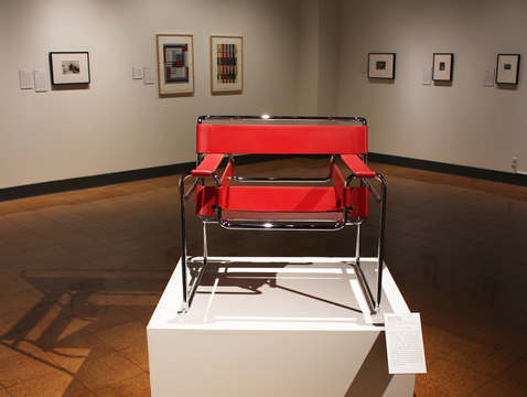 Marcel Breuer's Wassily Chair is a reproduction of the 1925 original. Inspired by the ergonomic principles of the bicycle, Breuer was the first to use tubular steel to make furniture.
