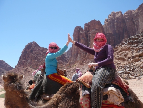 """Foreign Language and Area Studies fellowships help fund summer study abroad programs such as """"Arizona in Jordan"""" through the UA Center for Middle Eastern Studies. Students are required to live with Jordanian host families, which reinforces the language acquisition happening in the classroom. (Photo: Christian Sinclair)"""